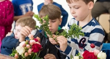 Аскания-Флора устроила для детей флористический мастер-класс